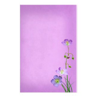Purple Wildflower on Purple Stationery