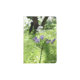 Purple Wildflower Possport Holder