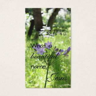 Purple Wildflower Salvation Bible Card