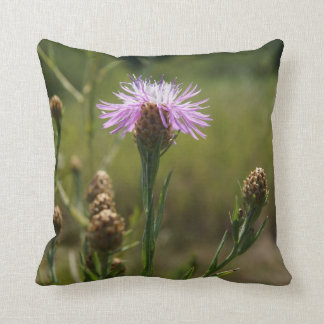 "Purple Wildflower Throw Pillow 16"" x 16"""