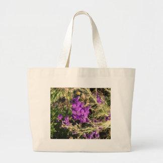 Purple Wildflowers Canvas Bag