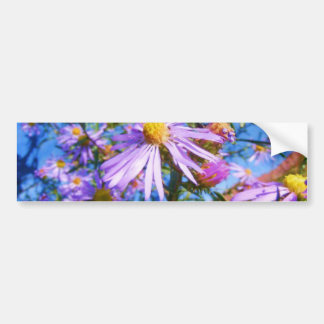 Purple Wildflowers Bumper Sticker