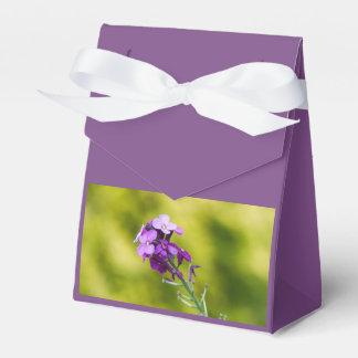 Purple wildflowers favour box