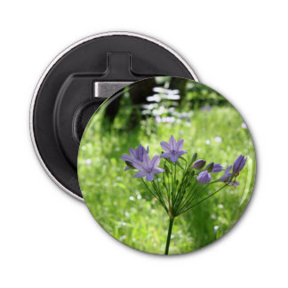 Purple Wildflowers Magnetic Bottle Opener
