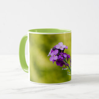 Purple wildflowers mug