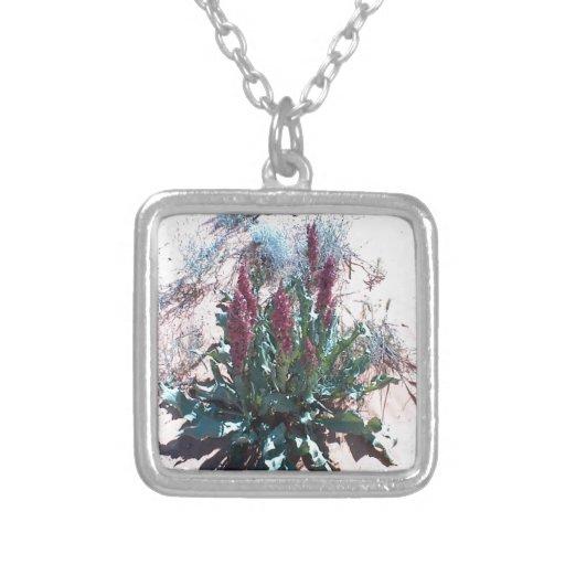 Purple Wildflowers Custom Necklace