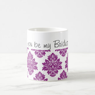 Purple Will you be my Bridesmaid coffee mug