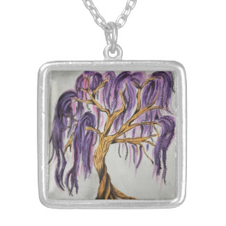Purple Willow Tree Necklace