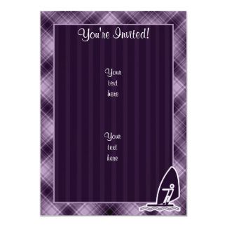 Purple Windsurfing 13 Cm X 18 Cm Invitation Card