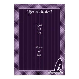 Purple Windsurfing 13 Cm X 18 Cm Invitation Card