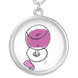 PURPLE WINE SKETCH by jill Necklace