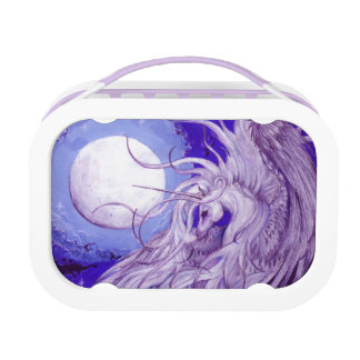 Purple Winged Unicorn with Moon Lunchbox