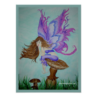 purple wings fairy poster