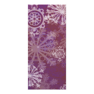 Purple Winter Rack Cards