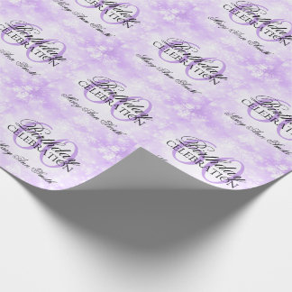 Purple Winter Wonderland 60th Birthday Party Wrapping Paper