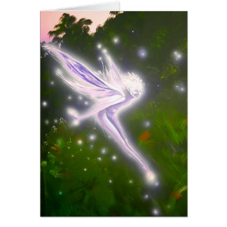 Purple Wisp faerie - Greeting Card