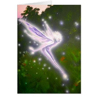 Purple Wisp faerie - Greeting Card