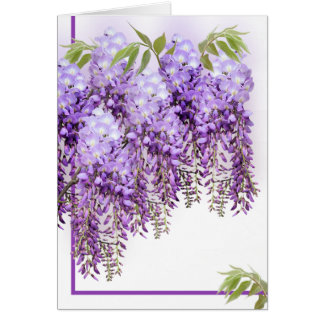 Purple Wisteria Card