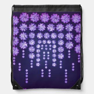Purple Wisteria Flower Garden Japanese Tree Bold Backpack