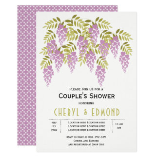 Purple wisteria spring wedding couples shower card