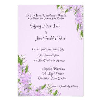 """Purple Wisteria  Wedding Invitations 5"""" X 7"""" Invitation Card"""