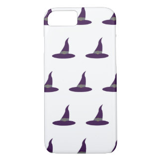 Purple witch hats Halloween iPhone 7 Case