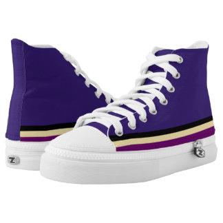 Purple with Black Gold & Purple Trim Hi-Top