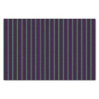 Purple with Neon Green & Black Stripes Tissue Paper