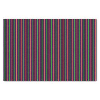 Purple with Neon Green & Orange Stripes Tissue Paper