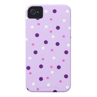 Purple with Pink Polka Dots iPhone 4 Cover