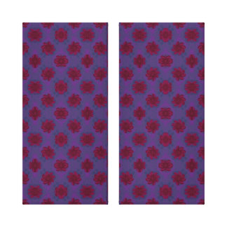 Purple with red flower pattern canvas print
