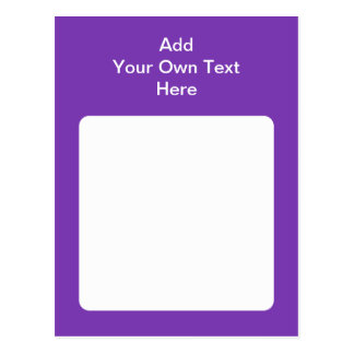 Purple with white area and text postcard