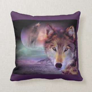 Purple Wolf Cushion