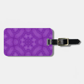 Purple wood abstract pattern luggage tag