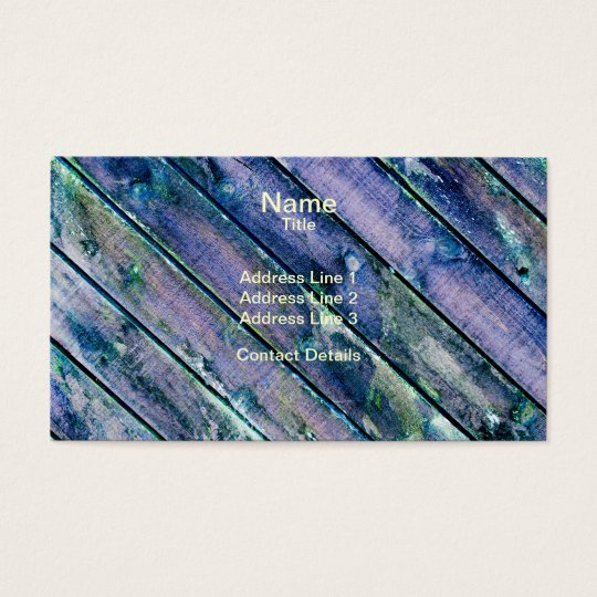 Purple Wooden Gate Business Card