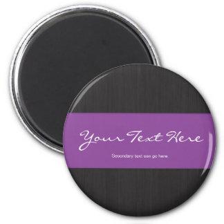 Purple & Woodgrain Customizable Magnet