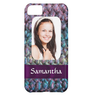 Purple wool photo template iPhone 5C case