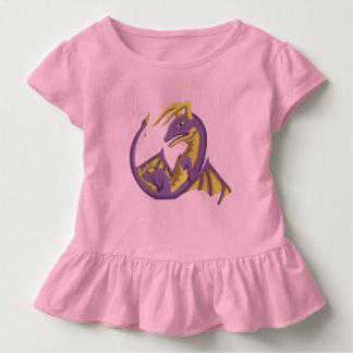 Purple Wyvern Baby Dragon Ruffle Toddler Tee