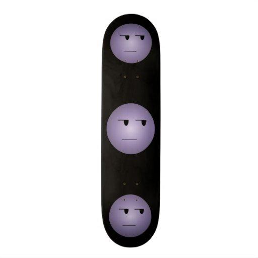Purple Yeah Right Smiley Skateboard