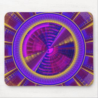 Purple Yellow And Pink Futuristic Tech Circle Mouse Pad