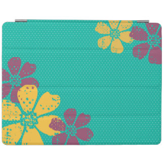 Purple, Yellow, and Teal Floral Ipad Cover
