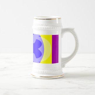 purple yellow blue mug