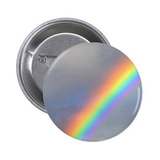 purple yellow blue red rainbow 6 cm round badge