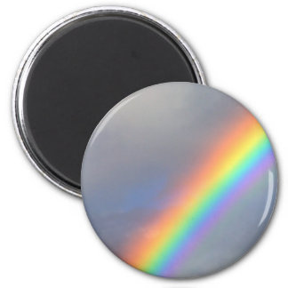purple yellow blue red rainbow 6 cm round magnet
