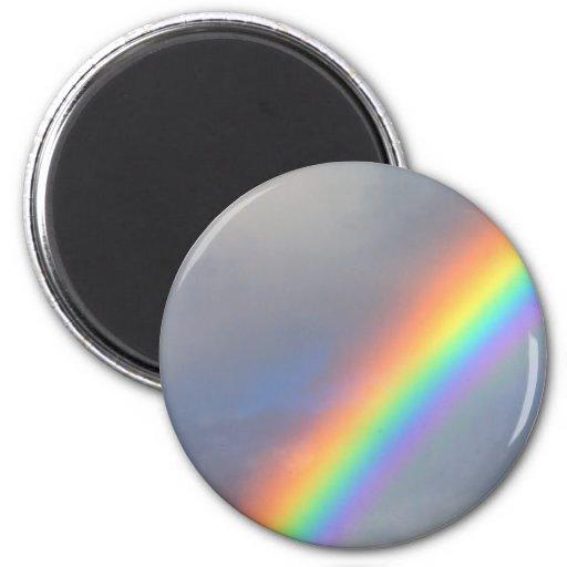 purple yellow blue red rainbow magnet