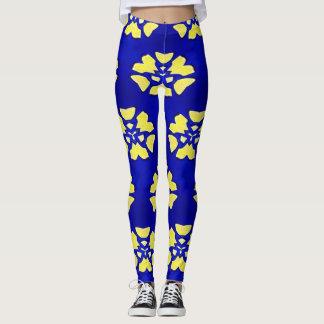 Purple Yellow Funky Kaleidoscope Pattern Leggings