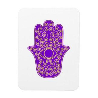 Purple Yellow Hamsa-Hand of Miriam-Hand of Fatima. Vinyl Magnet