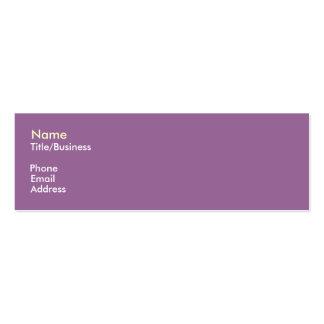 Purple Yellow Impact Business Card