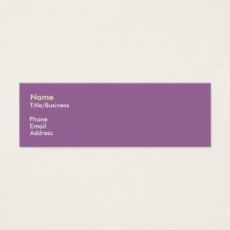 Purple/Yellow Impact Mini Business Card