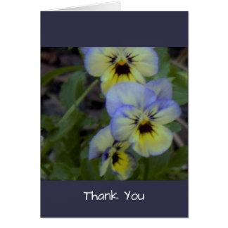 Purple Yellow Pansies Card
